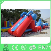 Manufacturer kids floating inflatable water obstacles course
