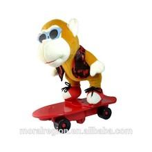 plush monkey names, interactive skateboard monkey