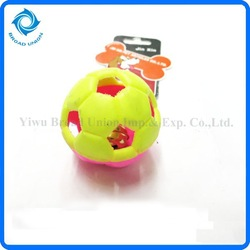 Plastic Toy Ball With Bell Chew Toy Snack Pet Ball