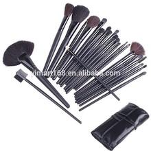 24 PCS Professional Kabuki Makeup Cosmetic Brush set Kit + Pouch Bag Case Black