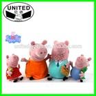 hot Peppa Pig Toys 30cm Daddy Mummy & 20cm Peppa Geroge in Winter Clothes