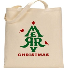 Christmas Promotional Natural Cotton Bag