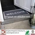 Anti- deslizamiento forro de goma comercial puerta del hotel logotipo de bienvenida y esteras