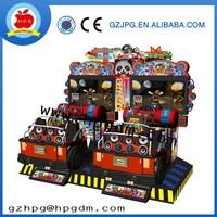 Full motion car racing video game machine