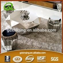 Modern Living room furniture stainless steel diamond coffee table C146