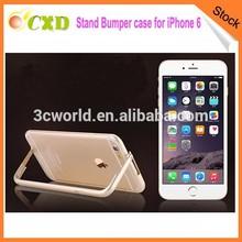 New design aluminum stand bumper phone case for iphone 6