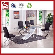 Shudidi modern style metal glass table and chair set