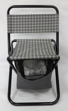 Grey colors fold cooler chair with insulated box