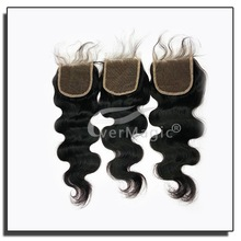 Silk invisible part closure malaysian virgin hair,malaysian body wave closure