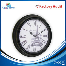 Old style antique wall clock/wall clock china with sangtai clock movement
