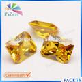 Facetten edelsteine großhandel goldenen achteck cz zirkon edelstein Preisliste