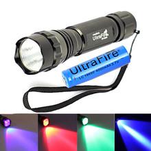 Red Bule Green Purple Light Available UV Q5 led Flashlight