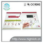 2014 Factory customized newest invitation video brochure/ lcd video greeting card