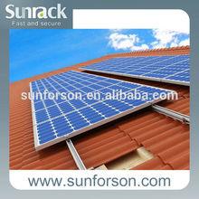 Tile roof solar panel pv mount kit,aluminum solar roofing mounting brackets,solar mount system