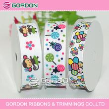Cute monkey and flower print ribbon