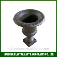 antique bronze pot flower pot brass poly resin garden urns
