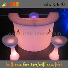 led plastic bar counter/bar counter led light/illuminated led bar counter