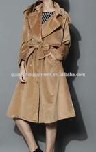 2014 winter storm flap Self-tie Belted Wool Blend Coat ,cold winter outside wear ,Double breasted wool coat