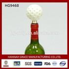 Sport Style Home Dedoration Golf Ball Metal Wine Bottle Stopper
