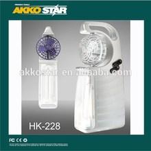 Hakko 2014 new CE dp rechargeable fan emergency light