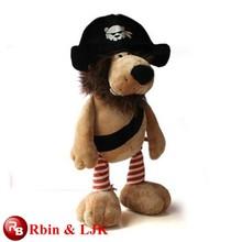 Meet EN71 and ASTM standard ICTI plush toy factory plush pirate plush toy