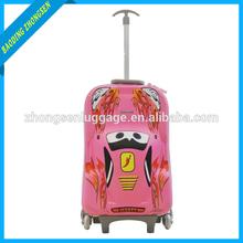 2015 new 3D EVA Frozen girls rolled wheeled trolley travel bag kids children rolling luggage
