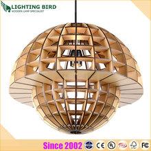 2014 modern wooden lampshades manufacturer for living room