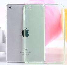 Ultra Thin Crystal Soft TPU Transparent Silicone Case Cover For Apple iPad Air 2 / iPad air / iPad mini 2