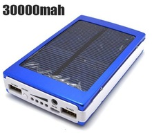 Portable Solar Charger 30000MAH Solar Power Bank Emergency Battery Charger Green Solar Power