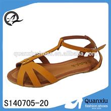 pu upper and tpr sole flat sandal footwear