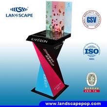 shampoo pallet display shelves magnetic floating pop display/make up products corrugated cardboard display