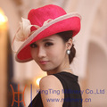 Novo design ladies chapéus igreja feita de palha de guanzhou, china