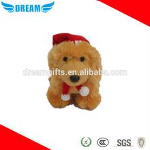 Plush pet dog bed/floppy dog plush toys/round plush dog toy