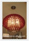 China consumer zhongshan factorydecoration red crystal aluminum modern ceiling light