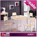 Melamina a0831 + mdf, baratos mesa de jantar e cadeira set