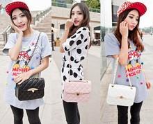 Korean Women Synthetic Leather Messenger Handbag Shoulder Bags Tote Purse SV003720#