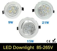 9W 15W 21W AC85V-265V 110V/220V LED Ceiling Downlight Recessed LED Wall lamp Spot light