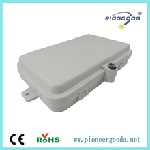 PG-FTTH04C outdoor fiber optic distribution box,wall mounted ABS material 1 inlet port 4 outlet ports SC,FC,ST adapter