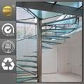 الفضاء إنقاذ تصميم تزيين الدرج الحلزوني خطوة الزجاج