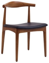 Tracy Wood Dining Chair with Faux Leather Seat MX-6258