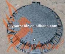 D400 600x600 square frame&round casting Iron locking manhole covers