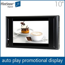 Flintstone 10 inch digital display flat panel restaurant tablet advertising video dvd player