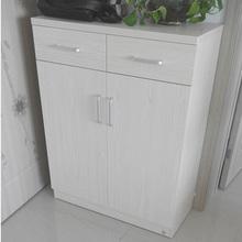 black walnut wooden shoe rack with drawers&doors