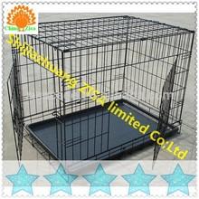 black dog cage , dog crates