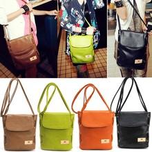 Women Candy Color Handbag Leather Cross Body Shoulder Bag Bucket Bag SV000837#