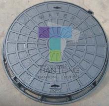 EN124 QT500-7 Various Size Cast Iron Street Manhole Cover City Road