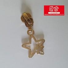 3# 5# 8# 10#wholesale key locking metal star zipper puller