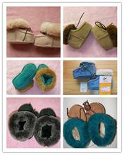 Venta al por mayor de China invierno del bebé de lana de piel de oveja de los bebés zapatos