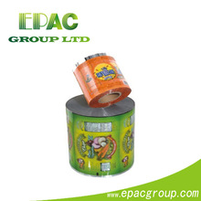 Eco-Friendly!! Colorful automatic packaging plastic roll film for food made-in-china