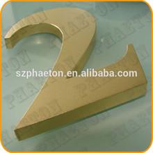 Dorato/placcaturain ottonein acciaioinox alfabeto lettere